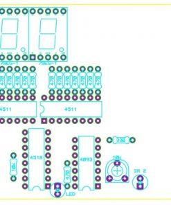 Sơ đồ bố trí linh kiện mạch đếm sản phẩm 3 số IC số LDNam