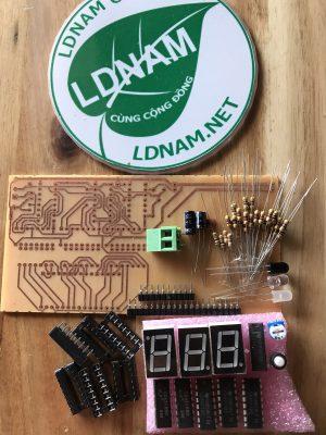 Bộ linh kiện + mạch in đếm sản phẩm 3 số IC số LDNam