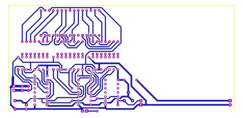Sơ đồ mạch in mạch đếm 3 số IC số LDNam
