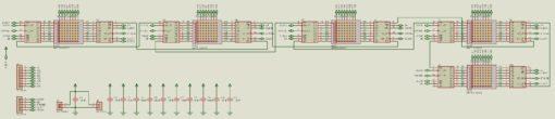 Lịch vạn niên ma trận pic16f877a LDNam - Nguyên lý mạch hiển thị