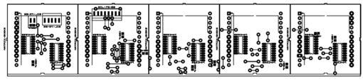 Lịch vạn niên ma trận pic16f877a LDNam - Bố trí linh kiện khối hiển thị LED ma trận
