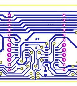 Lịch vạn niên ma trận pic16f877a LDNam - Mạch in khối hiển thị LED ma trận