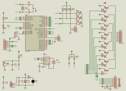 Lịch vạn niên ma trận pic16f877a LDNam - Nguyên lý mạch điều khiển