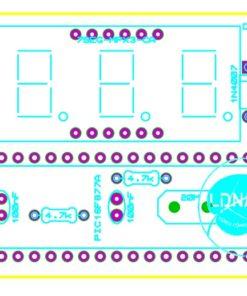 Sơ đồ bố trí linh kiện mạch nhiệt kế điện tử PIC16F877A LDNam