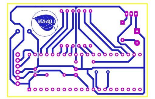 Sơ đồ mạch in mạch nhiệt kế điện tử PIC16F877A
