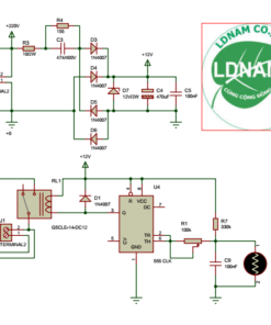sơ đồ nguyên lý mạch tự động bật đèn khi trời tối đơn giản IC555 LDNam