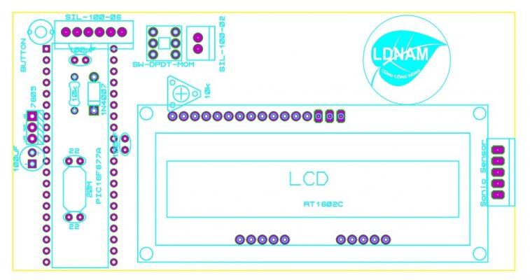 Sơ đồ bố trí linh kiện thước mét điện tử LDNam