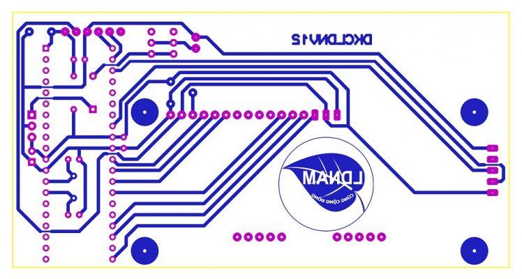Sơ đồ mạch in thước mét điện tử LDNam