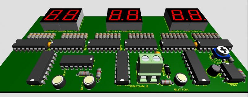 Mạch 3D đồng hồ số ic số LED 7 đoạn LDNam