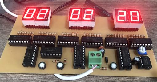 Mạch đồng hồ số ic số hiển thị giờ phút giây lên LED 7 đoạn LDNam