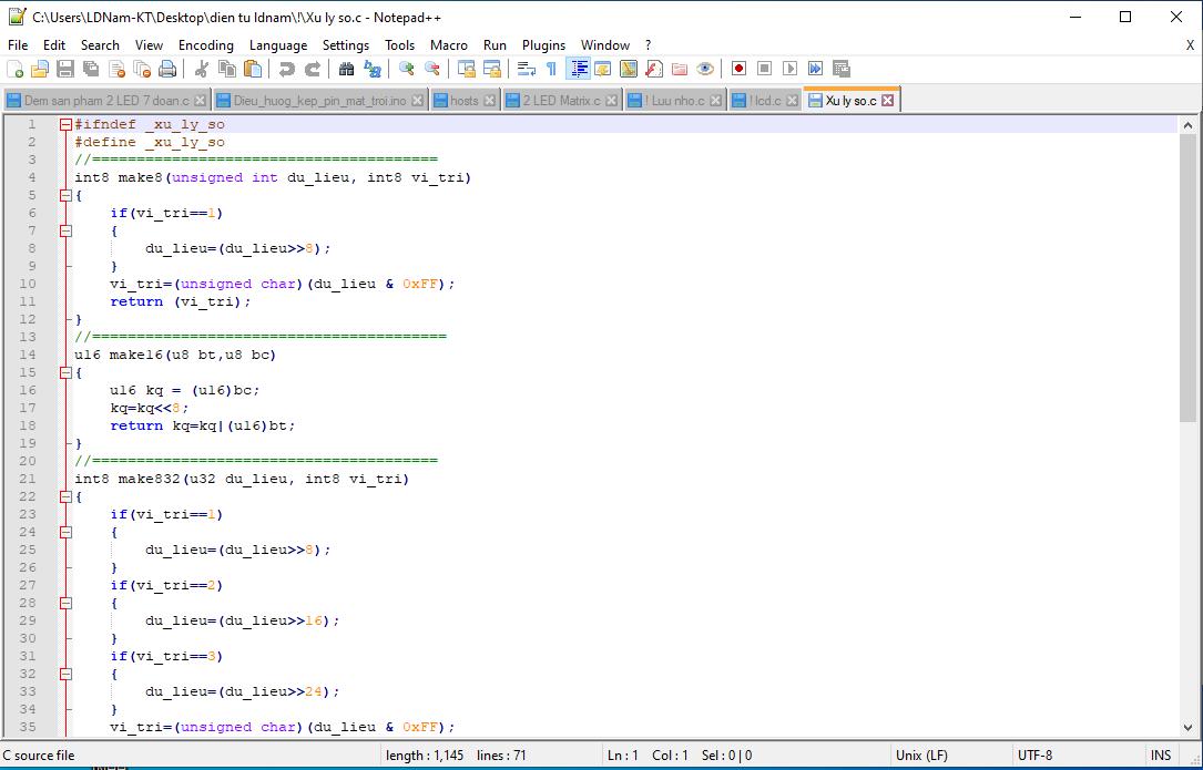 Thư viện code cho AVRStudio - LDNam