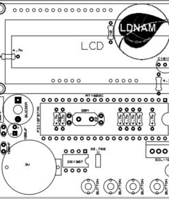 Sơ đồ bố trí linh kiện mạch lịch vạn niên LCD thời gian thực dễ dàng phát triển PIC16F877A - LDNam
