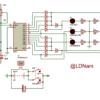 Bộ linh kiện + Mạch in đèn giao thông ngã tư đơn giản LDNam
