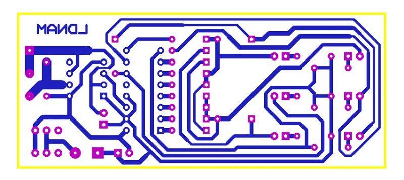 Sơ đồ mạch in mạch đèn giao thông đơn giản LDNam