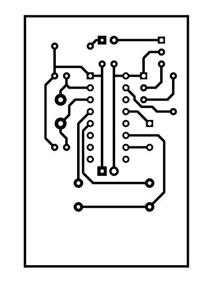 Sơ đồ mạch in - remote hồng ngoại 2 nút nhấn PT2262