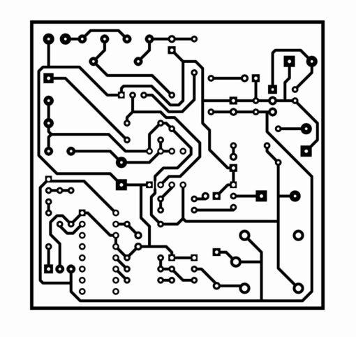 Sơ đồ mạch in mạch chống trộm bằng tia laze sử dụng remote hồng ngoại