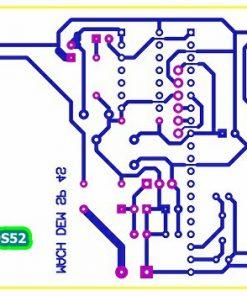 Sơ đồ mạch in mạch đếm sản phẩm 4 số dùng 89S52 hiển thị 4 LED 7 đoạn LDNam