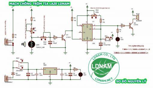 Sơ đồ nguyên lý mạch chống trộm laze LDNam