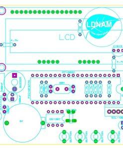 Sơ đồ bố trí linh kiện mạch lịch vạn niên LCD thời gian thực PIC16F877A LDNam
