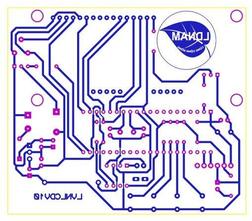 Sơ đồ mạch in mạch lịch vạn niên LCD thời gian thực PIC16F877A LDNam