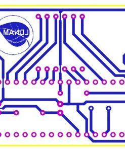 Sơ đồ mạch in mạch đo nhiệt độ sử dụng PIC16F877A cảm biến nhiệt độ DS18B20 hiển thị lên 3 LED 7 đoạn LDNam