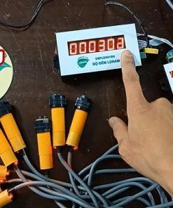 Bộ đếm sản phẩm 6 số nhỏ 0102 với 8 đầu ngõ vào cảm biến LDNam D6S8NV10