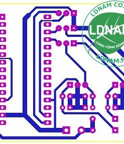 Sơ đồ mạch in lý điều hướng pin mặt trời Arduino theo 2 hướng LDNam