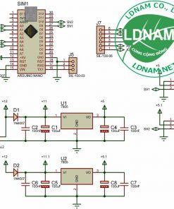 Sơ đồ nguyên lý điều hướng pin mặt trời Arduino theo 2 hướng LDNam