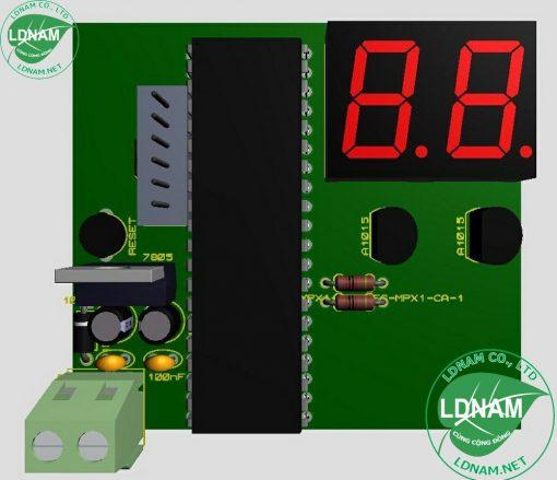 Mạch 3D đếm tự động 89S52 lên 2 LED 7 đoạn đơn giản LDNam