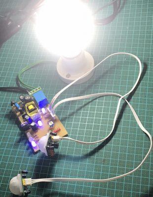 Mạch điều khiển đèn tự động dùng cảm biến chuyển động ATMega16 LDNam