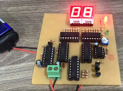 Mạch đèn giao thông IC số 2 LED 7 đoạn LDNam