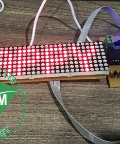 Mạch 4 LED ma trận chạy chữ 89S52 LDNam