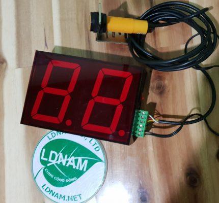Đếm người lên xuống xe ra vào cổng LDNam hiển thị 2 số LED 6586