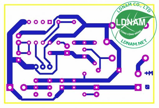Sơ đồ mạch in mạch bật quạt tự động theo nhiệt độ LDNam